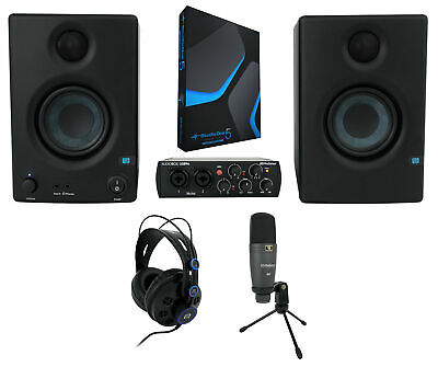 Presonus AudioBox 96 Studio Ultimate In Black W/Headphones+Mic+Monitors+Software • 361.76£