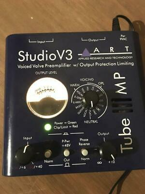 ART  Mic Preamp Tube MP Studio V3 tested working w/ Adapter F/S