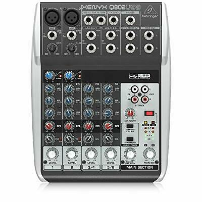 Premium 8 Input 2 Bus Mixer With XENYX Mic Preamps/Compressors/British • 80.99£