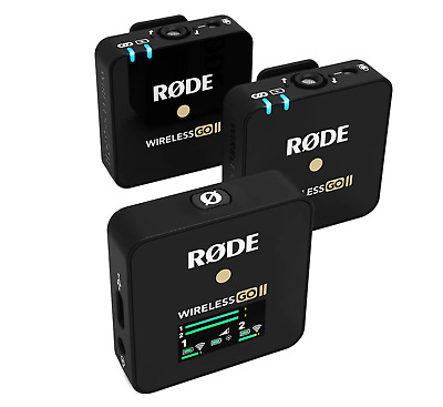 Rode Microphones Wireless Go II Dual Channel Wireless Microphone System New • 181£
