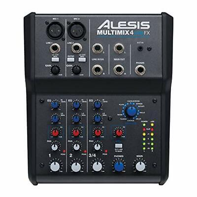 Alesis MultiMix 4 USB FX – 4 Channel Compact Studio Mixer With Built In • 115.29£