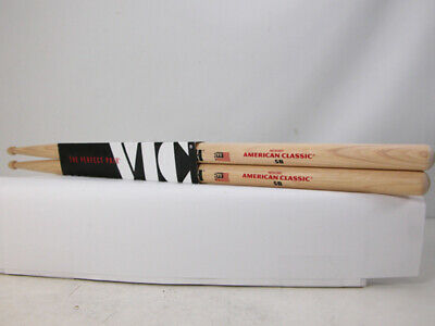 New Vic Firth AMERICAN CLASSIC 5B Hickory Drumsticks The Perfect Pair Ships Free • 7.54£