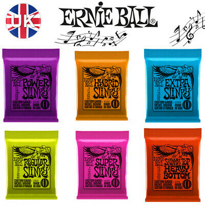 Ernie Ball Slinky Guitar strings with Choice of 6 Gauges - Including singles NEW