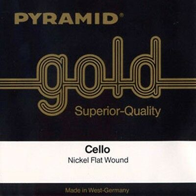 PYRAMID Gold 4/4 Cello Saiten SATZ In 5 Größen, Cello Strings SET • 39£