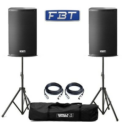 2x FBT X-Lite 10A Professional 1000W DJ Disco Club Active PA Speakers With Mixer • 664£
