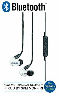 Shure SE215-W-BT1-EFS Wireless Bluetooth Enabled Sound Isolating Earphones White • 129£
