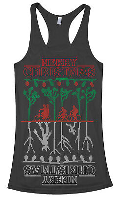 The Upside Down Stranger Things Ugly Christmas Women's Racerback Tank Top • 12.63£