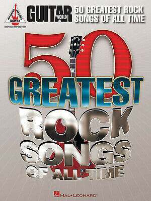 Guitar World: 50 Greatest Rock Songs Of All Time  Guitar  Book Only HL00691143 • 28.20£