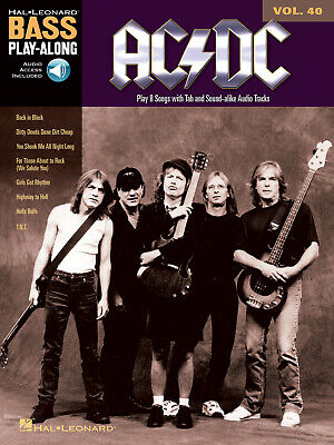 AC/DC Bass Play-Along Volume 40 Bass Guitar  Book With Audio-Online HL14041594 • 14.50£