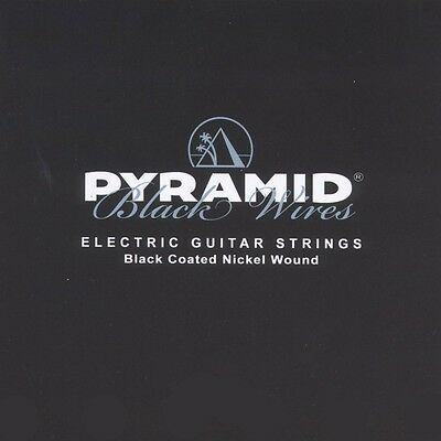 Pyramid E-Guitar Black Wires Coated Nickel Wound Strings Set Electric Guitar • 9.93£