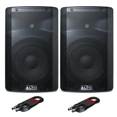 Alto TX210 Active 10  150W RMS DJ Disco Live PA Speakers (Pair) With XLR Cables • 248£