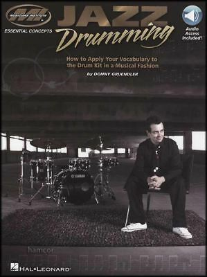 Jazz Drumming Essential Concepts Sheet Music Book With Audio Learn How To Play • 15.97£