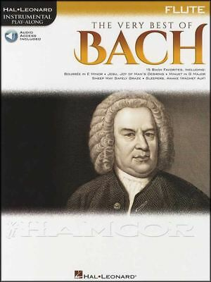 The Very Best of Bach Flute Instrumental Play-Along Classical Music Book/Audio