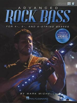 Advanced Rock Bass Guitar TAB Music Book with Audio and Video for 4 5 & 6 String