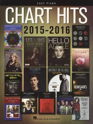 Chart Hits 2015-2016 Easy Piano Sheet Music Book Adele Coldplay Justin Bieber • 13.83£