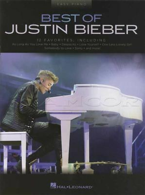 Best Of Justin Bieber Easy Piano Sheet Music Book Baby Despacito Love Yourself S • 11.99£