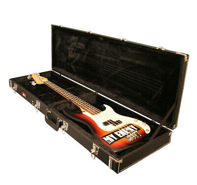Gator Cases Gw-bass Guitar Wood Case W/ Compartment & Chrome-plated Hardware New