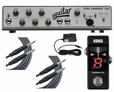 Aguilar Tone Hammer 700 + Pitchblack Mini Tuner + Cables + Power Supply • 775.26£