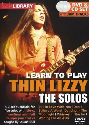 Learn To Play Thin Lizzy - The Solos  Guitar  CD & DVD MUSRDR0385 • 19.70£