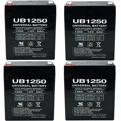 4PK UB1250 12V 5AH Replacement Battery For LD Systems Roadman 102(HS) PA System • 33.91£