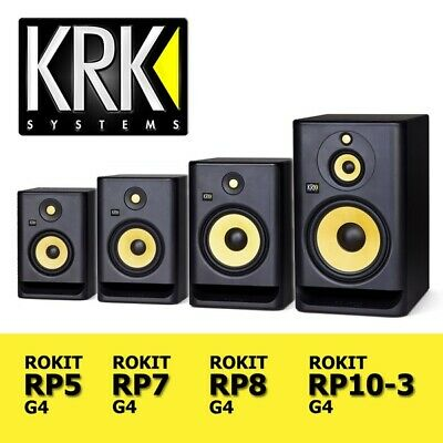 KRK Rokit G4 Series RP5 / RP7 / RP8 / RP10-3 Active DJ Studio Monitor Speakers  • 159£