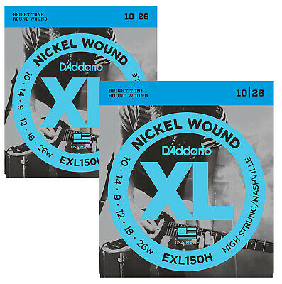 D'Addario EXL150H High Strung/Nashville Tuning Electric Guitar Strings X2 SETS • 9.49£