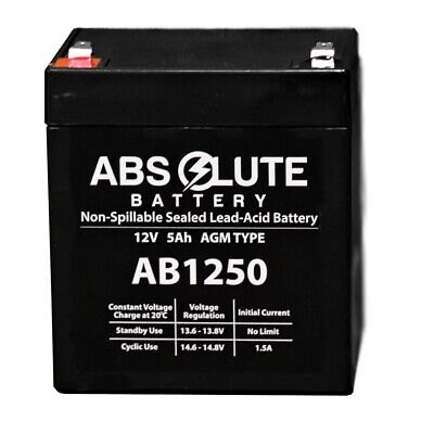 12V 5AH SLA Battery Replaces LD Systems Roadman 102(HS) Portable PA System • 9.82£