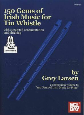 150 Gems Of Irish Music For Tin Whistle Sheet Music Book/Audio SAME DAY DISPATCH • 24.95£