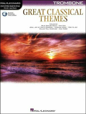 Great Classical Themes Trombone Play-Along Music Book/Audio SAME DAY DISPATCH • 10.69£