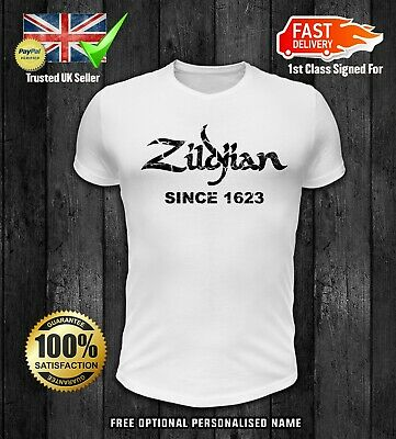 ZILDJIAN SINCE 1623 HOODIE Drummer Cymbals ADULT TOP SIZES S TO 5XL HOODIE TOP