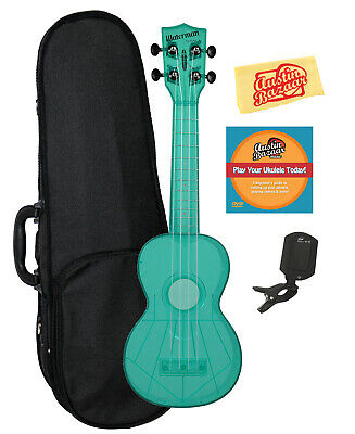 Kala KA-SWF-BL Waterman Soprano Ukulele - Fluorescent Blue Gloss W/ Hard Case • 60.87£