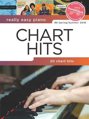 Really Easy Piano: Chart Hits 6  Easy Piano  Book With Audio-Online HLE90004937 • 10.75£
