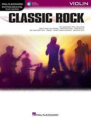Classic Rock Instrumental Play-Along for Violin Violin  Book with Audio-Online H