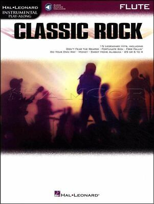 Classic Rock Instrumental Play-Along Flute Music Book/Audio SAME DAY DISPATCH