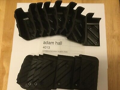 16 X GENUINE ADAM HALL 83mm STACKABLE CABINET CORNERS ,SPEAKERS AND FLIGHT CASES • 12.99£