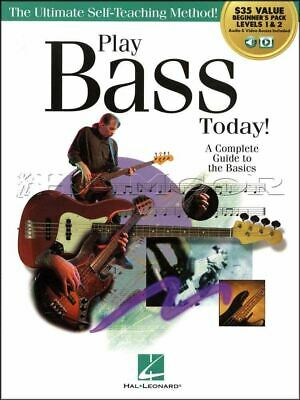 Play Bass Guitar Today Levels 1 & 2 TAB Music Book/Audio/Video SAME DAY DISPATCH