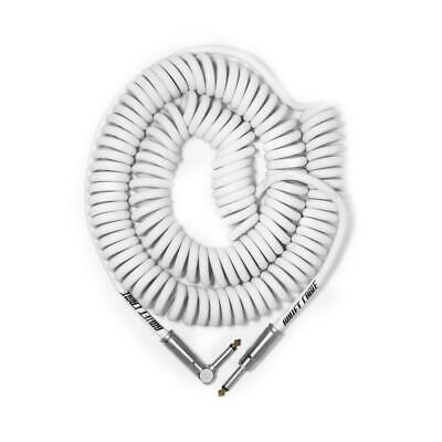 Bullet Cable 30′ White Coil Cable