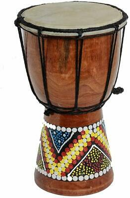 30Cm Djembe Drum With Hand Painted Design - West African Bongo Drum • 20.25£