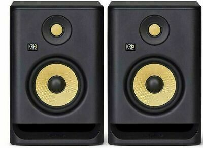 KRK Rokit RP5 G4 Active Studio Monitor Speakers With Isolation Pads & Cables • 328£