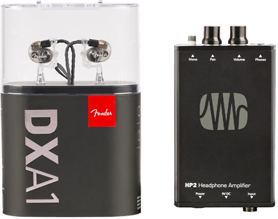 Fender MXA1 Bundle With DXA1 Pro In-Ear Monitors & PreSonus HP2 Headphone Amp... • 152.16£