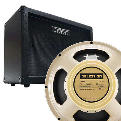 Celestion G12M-65 CREAMBACK (UK MADE) 8ohm And Montage 1 X 12  Guitar Cabinet • 184.18£