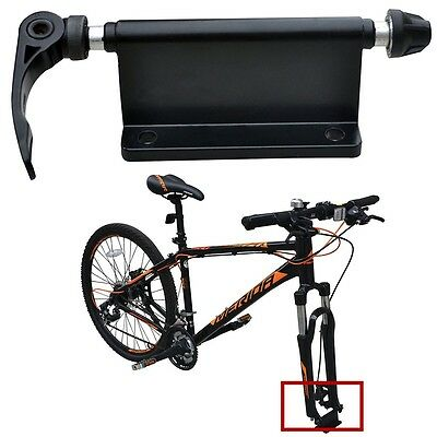 New Alloy Fork Mount Quick Release MTB Road Bicycle Bike Rack Car Roof Carrier • 14.09£