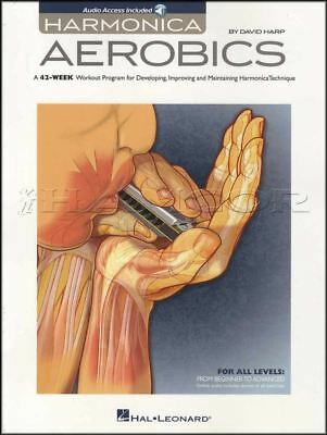 Harmonica Aerobics Sheet Music Book With Audio 42 Weeks Workout David Harp • 13.34£