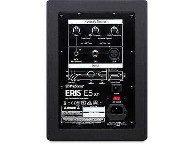PreSonus Eris E5 XT 2-Way 5.25 Inch Near Field Studio Monitor W EBM Waveguide • 122.15£