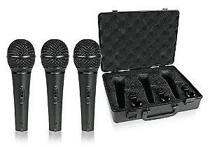 Behringer XM1800S 3 Dynamic Cardioid Vocal And Instrument Microphones (Set Of 3) • 46.54£