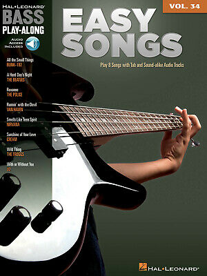 Easy Songs  Bass Play-Along Volume 34 Bass Guitar  Book with Audio-Online HL0070