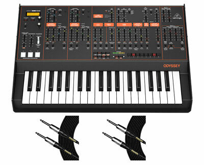 Behringer Odyssey Analog Synthesizer Synth W/ 32 Full-Size Keys + Mogami Cables • 479.65£