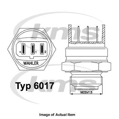 New Genuine WAHLER Radiator Cooling Fan Temperature Switch 6017.95D Top German Q • 20.59£