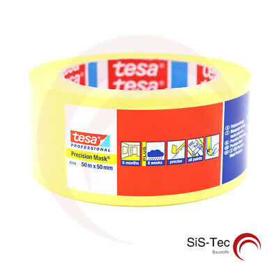 Tesa Präzisionskrepp 4334 Plus Yellow Masking Tape 30 MM X 50 M • 78.93£