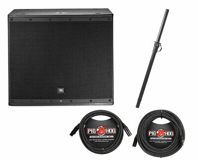 JBL EON618S 1000W Powered Subwoofer 18  Active Subwoofer + Pole + Cables • 711.43£